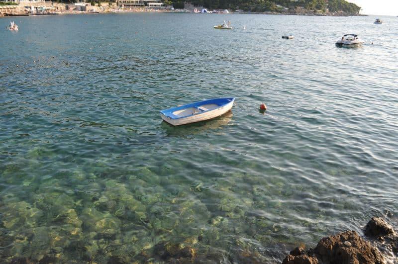 Água verdinha em Dubrovnik