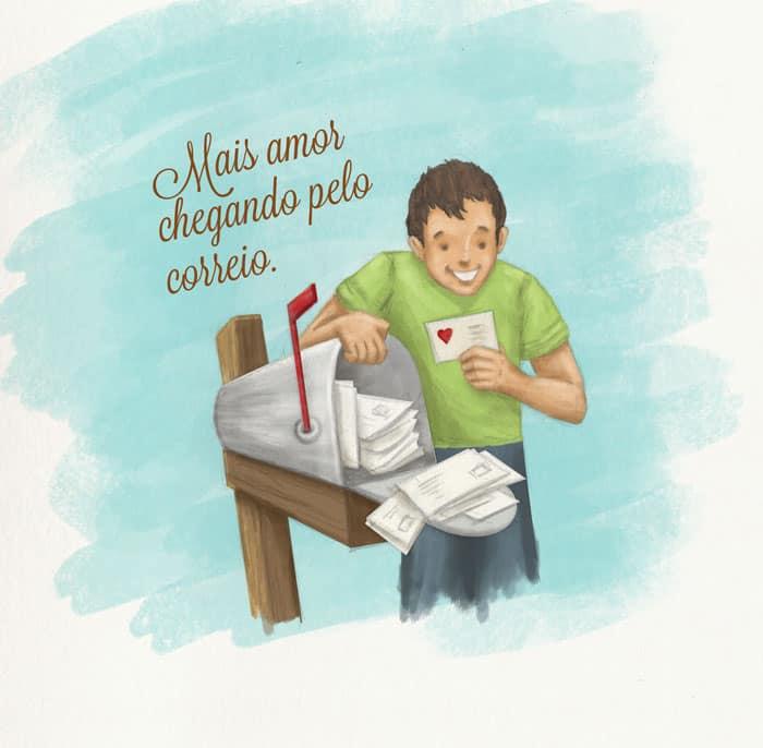 Veja quem são os 10 felizardos que vão receber cartões-postais do Partiu Intercâmbio. Ilustração: Caio Ramos