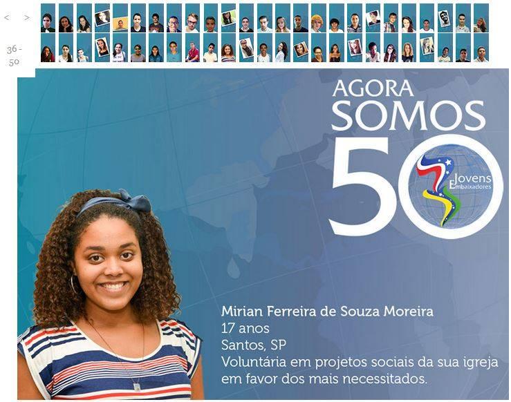Jovens Embaixadores 2015 Mirian