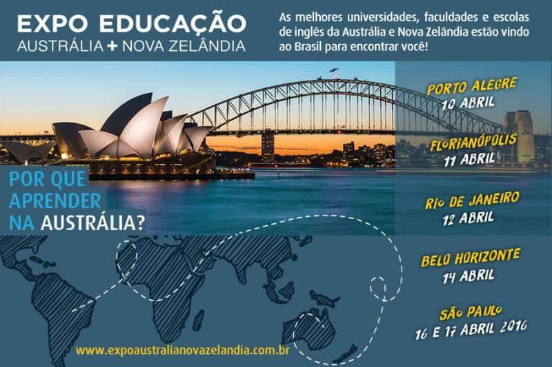 feira sobre estudar na austrália e na nova zelândia