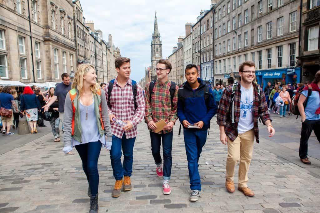 bolsa para curso de verão no Reino Unido Edimburgo Escócia