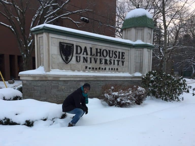 aloisio junior na dalhousie university durante intercâmbio