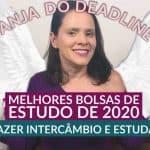bruna amaral com asas de anjo trazendo as melhores bolsas de estudo de 2020
